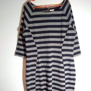 Gray and Black Long Sleeve Gap Dress